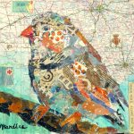 Nancy Standlee Fine Art Torn Paper Collage Pretty Bird Day Paintings