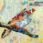 Nancy Standlee Fine Art Torn Paper Collage Roving Happy Bird