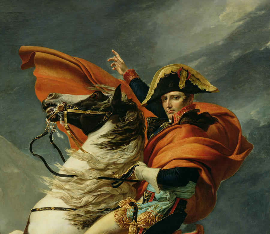 Napoleon Crossing Alps May Painting Jacques Louis