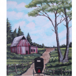 New Painting Amish Buggy Art