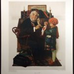 Norman Rockwell Doctor Doll Vintage Collotype Art Print Make Offer