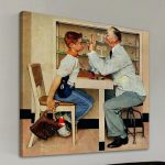 Norman Rockwell Doctor Paintings Vintage Framed Print Doll Publishing