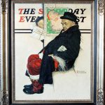 Norman Rockwell Santa Train Saturday Evening Post Cover Painting Sale