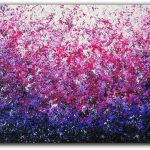 Original Abstract Oil Painting Purple Impressionst
