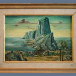 Original Antique Oil Painting Panel Board Frederic Taubes