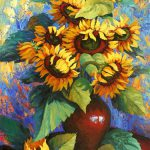 Original Art Sale Ugallery Sunflowers Vase Stanislav