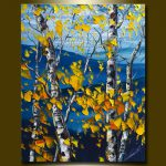 Original Autumn Birch Landscape Painting Oil
