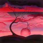 Original Landscape Abstract Tree Painting Angiec