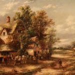 Outside Old Red Lion Oil Painting Edward Masters Sale
