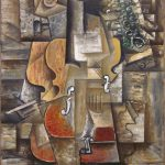 Pablo Picasso Violin Grapes Oil Canvas Museum Modern
