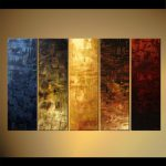Painting Sale Large Vertical Abstract Multi