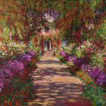 Pathway S Garden Giverny Painting Claude