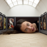 People Put Their Heads Inside Miniature Galleries Become Famous Art Exhibits