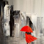 Photos Woman Red Umbrella Painting Drawings