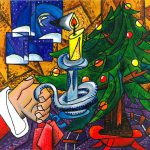 Picasso Style Christmas Tree Painting