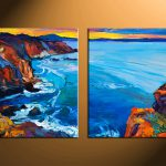 Piece Blue Ocean Huge Canvas Art Oil