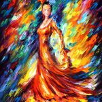 Pinch Cheerfulness Natural Oil Paintings Leonid Afremov Design