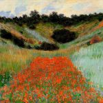 Poppy Field Giverny Claude Monet Scenery Painting Oil