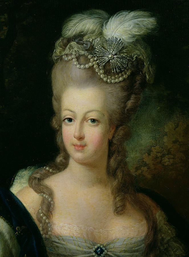 Portrait Marie Antoinette Habsbourg Lorraine Painting French