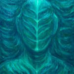 Portrait Real Green Man New Botanical Dark Surrealism Painting