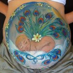 Pregnant Belly Painting Townsville Angel