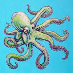 Print Octopus Art Hawaiian