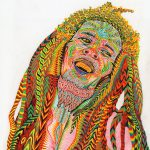 Psychedelic Art Vedran Misic Creates Colorful Depictions Modern Heroes