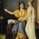 Pullez Women Rome Old Master Oil Board Painting Sale