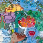 Raoul Dufy French Fauvism Still Life Before Yellow House Nature Morte