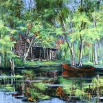 Red Pirogue Painting Dianne