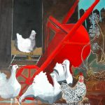 Red Wheelbarrow Painting Patricia Mccormack