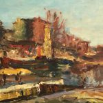 Ren Thomsen Large French Impressionist Oil Painting Sale
