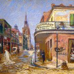 Restaurant Renaissance French Market New Orleans Painting Mountain