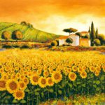Richard Leblanc Valley Sunflowers Painting Best Paintings