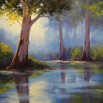 River Gum Trees Painting Graham