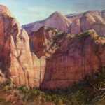 Roland Lee Travel Sketchbook New Paintings Zion National Park