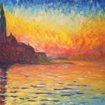 Saatchi Art Claude Monet Sunset Venice Original Copy Painting Ukasz