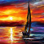 Sailboat Oil Painting Wind Toching Soul