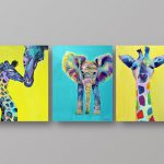 Sale Set Elephant Giraffe Best Selling Prints