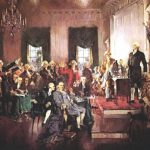 Scene Signing Constitution Teaching American
