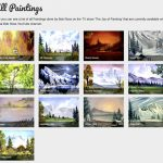 Searchable Database Every Bob Ross Canvas Joy