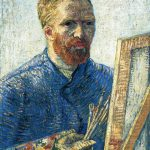 Self Portrait Painter Front Easel Vincent Van