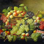 Severin Roesen Still Life Fruit Basket Oil Paintings