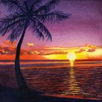 South Pacific Sunset Painting Sandi