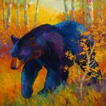 Spring Black Bear Painting Marion