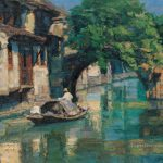 Spring Southern China Shanshui Chinese Landscape Painting Oil