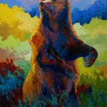 Spy Grizzly Bear Painting Marion