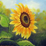 Sunflower Paintings Car Interior