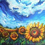 Sunflower Paintings Oil Sale