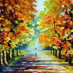 Sunny Morning Palette Knife Oil Painting Canvas Leonid